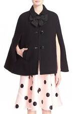 Kate Spade New York Black Bow Capelet Size:M  $678 NWT