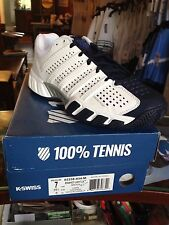 "K-Swiss Bigshot Light 2.5 Mens Tennis Shoe - US size 8.0 White / Blue ""NIB"""