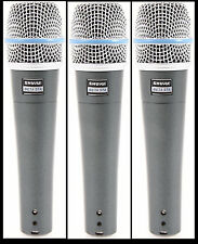 (3) New Shure BETA 57A Instrument Vocal Mic Auth Dealer Make Offer Buy It Now!