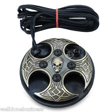Professional Stable Alloy Skull Tattoo Machine Power Supply Foot Pedal Switch