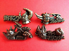 ONE SET OF 4 MAZINGER GAIKING GRANDAIZER DRAGON POPY 3-D PINS MINT DRAGON