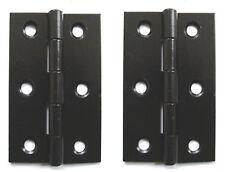 "BLACK [ EXB ] BUTT HINGES 75mm [ 3"" ]  1 PAIR"