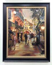 """Marilyn Hageman """"Evening in Paris"""" Framed Original Oil on Canvas"""