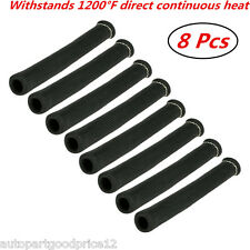 1200° Black Heat Shield Spark Plug Wire Protector Sleeve Covers SBC BBC 350 454