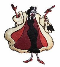 "Disney's 101 Dalmations Movie Cruella De Vil 3 3/4"" Tall Embroidered Patch"