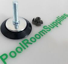 Pool Snooker Billiard Table Parts, Nylon Adjustable Foot, Bolt, T-Nut. 65mm