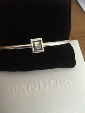 Authentic PANDORA 925 Sterling-Silver Charm Alphabet Letter-Initial-F-Bead. NEW