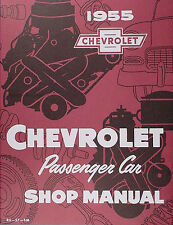 Best 1955 Chevrolet Repair Shop Manual 150 210 Bel Air Del Ray Nomad Chevy Car