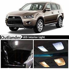 6x White Interior LED Lights Package for 2007-2012 Mitsubishi Outlander