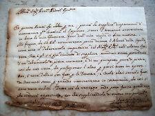 1738 RARA LETTERA MANOSCRITTA DAL LAZZARETTO DI VERONA