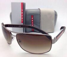 New PRADA Sunglasses SPS 54I 5AV-6S1 65-14 Gunmetal Frame w/ Brown Gradient Lens