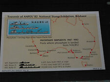 NAURU 1982 BRISBANE ANPEX EXHIBITION M/SHEET  FINE FRESH M/N/H COND
