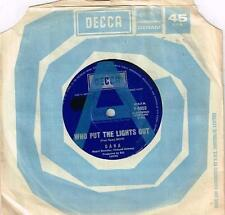"""DANA - WHO PUT THE LIGHTS OUT - RARE 7"""" 45 SAMPLE VINYL RECORD - 1971"""