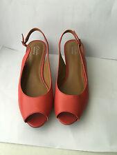 Para Mujer Clarks Brielle abril Cuñas De Cuero Genuino Tamaño 7 D Zapato Puntera Abierta Damas