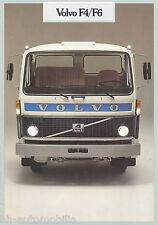 Prospekt Volvo F4 F6 8/81 1981 Lkw truck brochure Nutzfahrzeug Broschüre Sweden