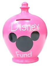 Terramundi Money Pot Pink With Mickey Mouse Disney Fund In Silver Girls Saving