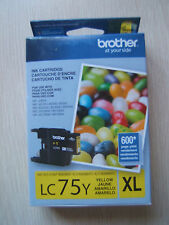 Brother Printer LC75Y XL High Yield Yellow Expired Ink Cartridge Genuine Sealed