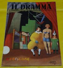 IL DRAMMA 1952 n. 153 - Copertina Almerico Tomaselli - Opere: vedi inserzione