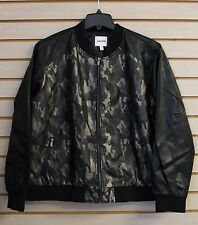 COOL NEW BONGO JUNIORS WOMENS PLUS SIZE 3X CAMO CAMOUFLAGE BOMBER JACKET COAT