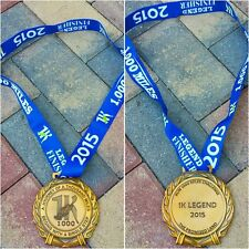 """RUN 1000 MILES CHALLENGE FINISHERS 2015 MEDAL 4"""" UNIQUE RUNNING BLING"""