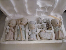1979 Jonathan & David Precious Moments Nativity Set Come Let us Adore Him 9 pc