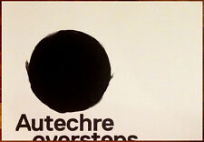 AUTECHRE Oversteps Ltd Ed Discontinued HUGE Rare Poster Exai L-Event Electronica