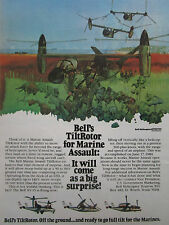 4/1981 PUB BELL HELICOPTER TEXTRON TILTROTOR XV-15 MARINES ASSAULT ORIGINAL AD