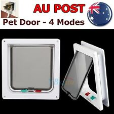 Safe 4-Way Locking Lockable Pet Cat Dog Door Flap Catflap Medium Size AU Stock