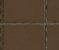 Cosmopolitan Leather Look Wallpaper Dark Chocolate