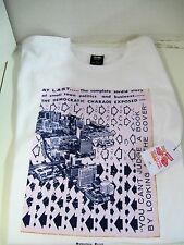 OBEY suburban press issue six MEN'S T-SHIRT white with screen print SIZE LARGE