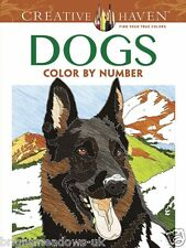 Dogs Colour By Number Adult Colouring Book Puppy Doggy Lab Beagle Animal Gift