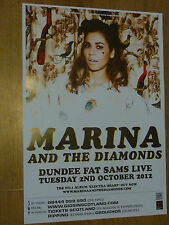 Marina And The Diamonds Dundee 2012 concert tour gig poster