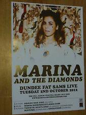 Marina And The Diamonds Dundee 2012 concert tour gig poster