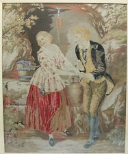 Large Early 19th C. FRENCH PETTIPOINT Needlework Panel  c. 1830  textile art
