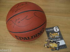 2000 LAKERS KOBE SHAQ O'NEAL DUAL SIGNED AUTOGRAPH NBA BASKETBALL