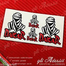 Set 4 Adesivi Stickers DAKAR Touareg White & Red