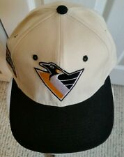 Vintage Pittsburgh Penguins Cap Hat CENTER ICE COLLECTION Size 7 1/4 - 100% Wool