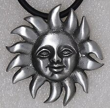 Sun of May Tarot Psychic Happy face Pagan Hippie Gypsy Argentina Pewter Pendant