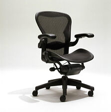 Herman Miller Aeron Mesh Desk Chair Large C fully  adjustable lumbar leather arm