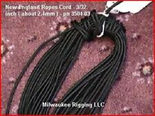 3/32 in.(about 2 mm) x 100 ft Black, New England Ropes polyester cord 3504-03