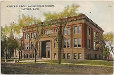 Science Building at Kansas State Normal School in Emporia KS Postcard 1909