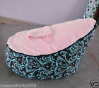 Canvas Pink Vine Baby infant Bean Bag Snuggle Bed Portable Seat Without Filling