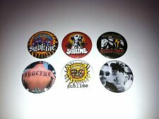 6 Sublime pin Button badges Robbin the hood 40 oz Badfish Lou Dog Bradley Nowell