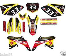 NG RACING SUZUKI RMZ250 RMZ 250 VINYL MX Motocross Graphic Kit 2010 - 2012
