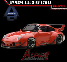 PRESALE AUTOART 78153 1:18 PORSCHE RWB 993 RED/GREY WHEELS