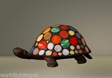Stunning High Quality Multicolour Turtle Tortoise Tiffany Lamp / Table Lamp