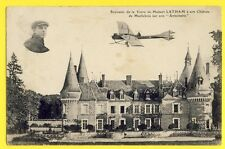 cpa 28 - MAILLEBOIS AVIATION Hubert LATHAM à son CHÂTEAU sur avion Antoinette
