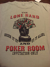 LUCKY BRAND THE LONE HAND POKER ROOM T-SHIRT LARGE - BRAND NEW - NWT