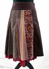 PRINCIPLES PANELLED FLIPPY NEEDLE CORD  PATTERNED FLORAL STRIPED SKIRT 10 12