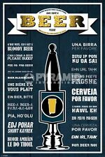 Poster Come Ordinare la Birra nel Mondo Pub Birreria Originale Import UK